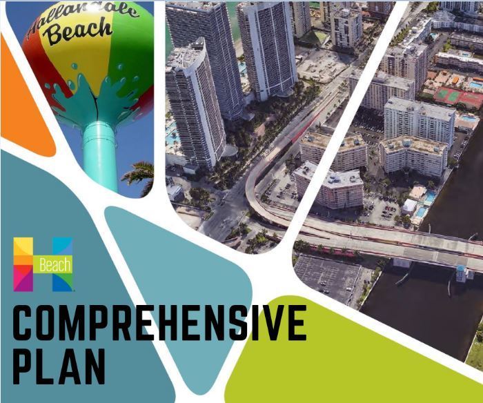 Comprehensive Plan Documents, picture of city water tower and aerial photo.