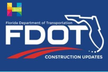 Florida Department of Transportation, Image of traffic signals and FDOT logo.