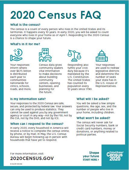 Census FAQ Flyer